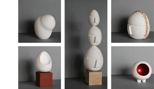 Porcelaine décorative et sculpurale Audrey Jezic Céramiques