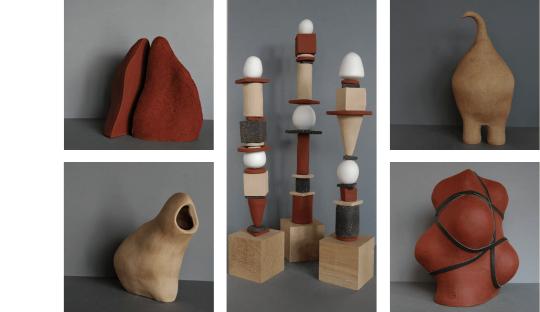 Sculptures en grès Audrey Jezic Céramiques