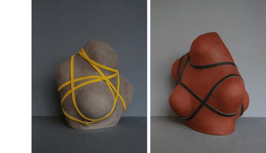 Sculptures grès Entravées Audrey Jezic Céramiques