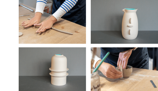 Semaine poterie tournage et modelage Audrey Jezic Céramiques