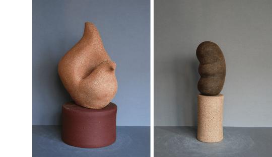 Sculptures grès Métaboliques Audrey Jezic Céramiques